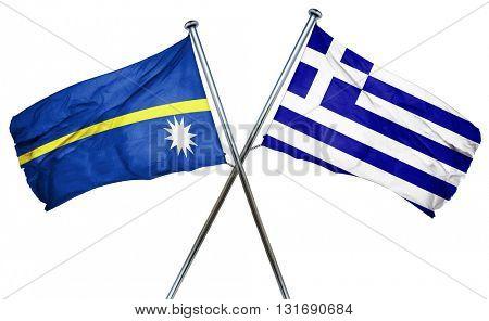 Nauru flag  combined with greek flag