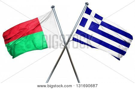 Madagascar flag  combined with greek flag