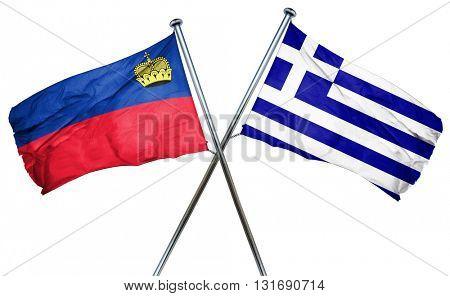 Liechtenstein flag  combined with greek flag