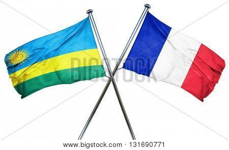 Rwanda flag  combined with france flag