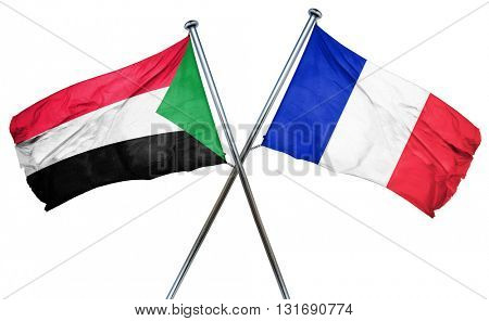 Sudan flag  combined with france flag