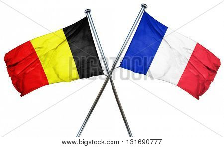Belgium flag  combined with france flag