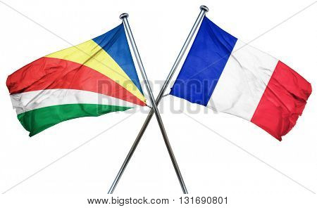 seychelles flag  combined with france flag
