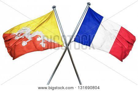 Bhutan flag  combined with france flag