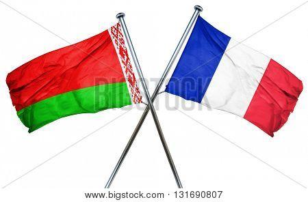 Belarus flag  combined with france flag