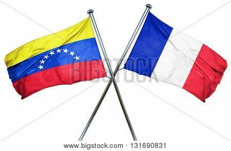 Venezuela flag  combined with france flag