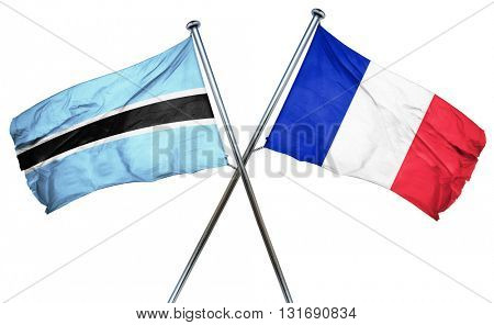Botswana flag  combined with france flag