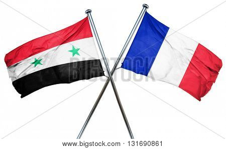 Syria flag  combined with france flag