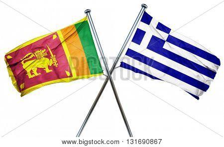 Sri lanka flag  combined with greek flag