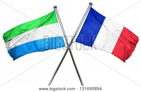 Sierra Leone flag  combined with france flag