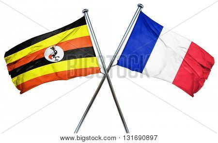 Uganda flag  combined with france flag