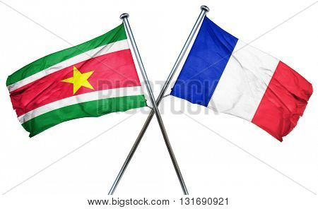 Suriname flag  combined with france flag
