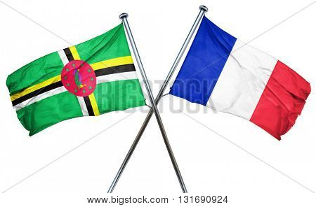 Dominica flag  combined with france flag