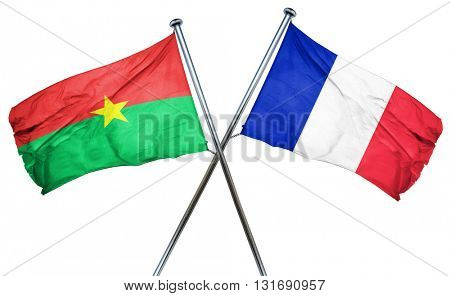 Burkina Faso flag  combined with france flag