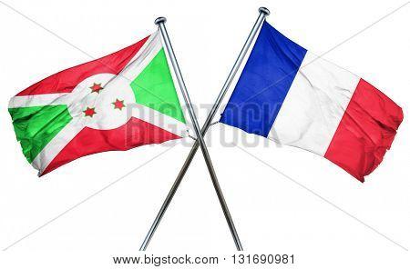 Burundi flag  combined with france flag