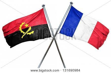 Angola flag  combined with france flag