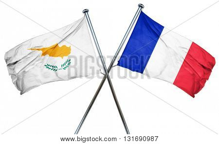 Cyprus flag  combined with france flag