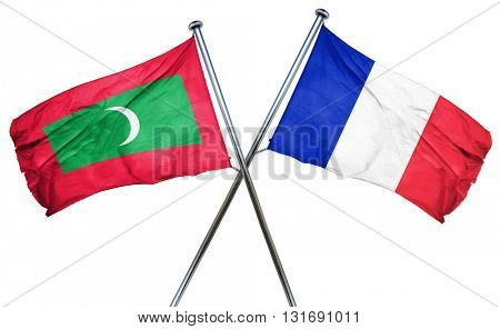 Maldives flag  combined with france flag