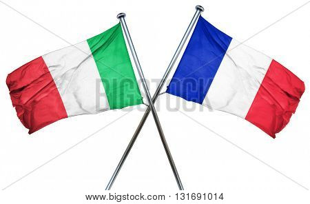 Italy flag  combined with france flag