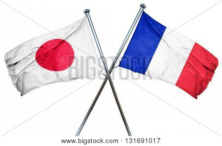 Japan flag  combined with france flag