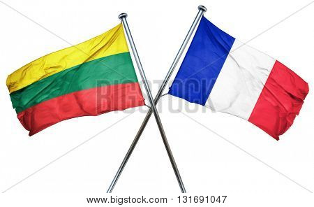 Lithuania flag  combined with france flag