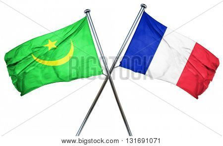 Mauritania flag  combined with france flag