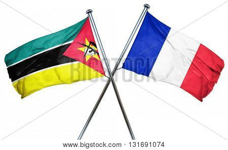 Mozambique flag  combined with france flag
