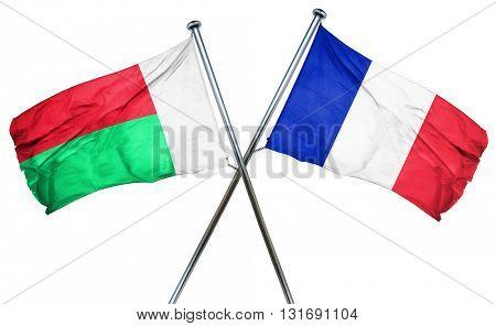 Madagascar flag  combined with france flag