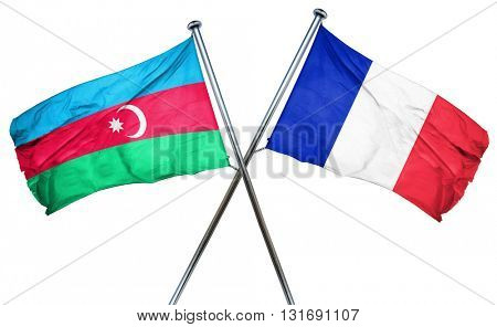 Azerbaijan flag  combined with france flag