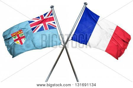 Fiji flag  combined with france flag