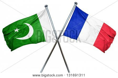 Pakistan flag  combined with france flag