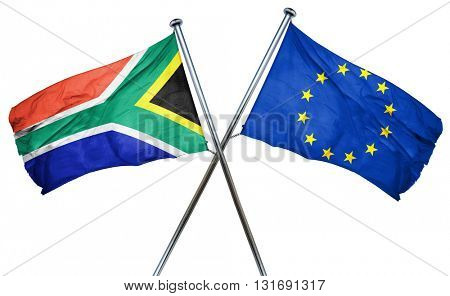 South africa flag  combined with european union flag