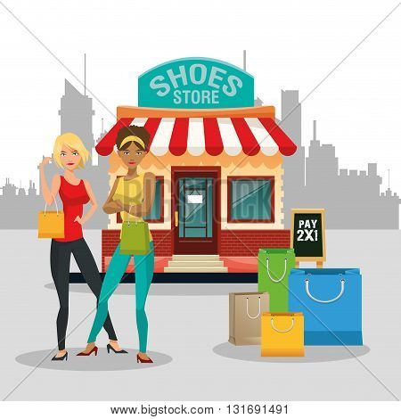 Shopping concept with icon design, vector illustration 10 eps graphic.