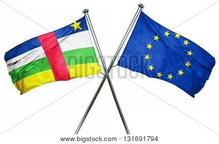 Central african republic flag  combined with european union flag