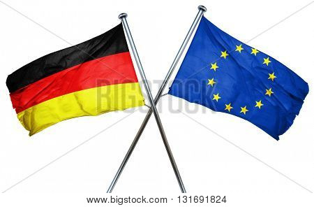 German flag  combined with european union flag