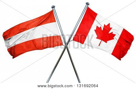 Austria flag  combined with canada flag