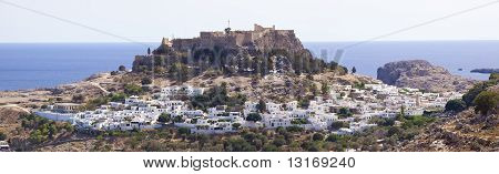 Village Lindos On Island Rhodes