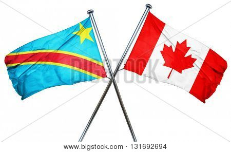 Democratic republic of the congo flag  combined with canada flag