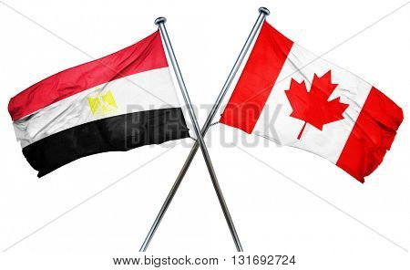 Egypt flag  combined with canada flag