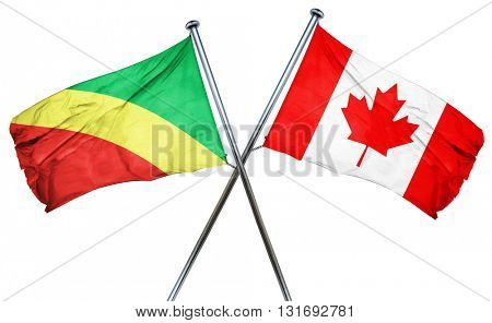 Congo flag  combined with canada flag