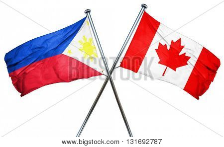 Philippines flag  combined with canada flag