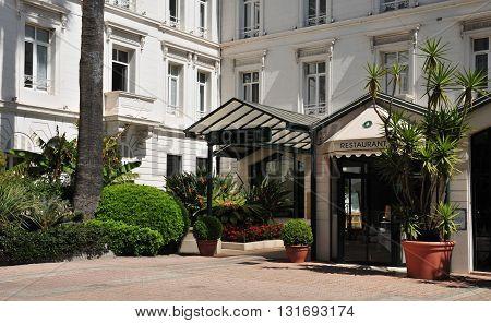Saint Raphael; France - april 14 2016 : hotel in the city center