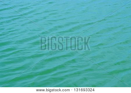 Surface of the water in the sea