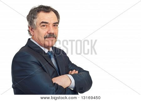Mature Business Man With Soft Smile