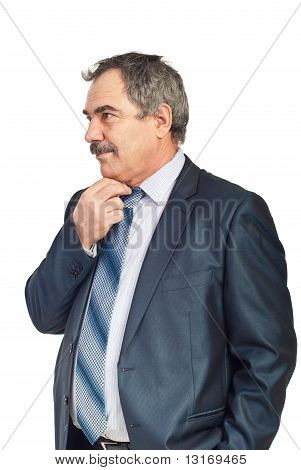 Worried Mature Business Man
