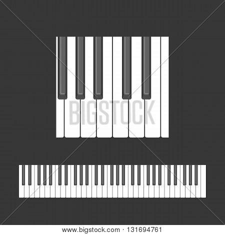 Piano keys pattern seamless background, flat design
