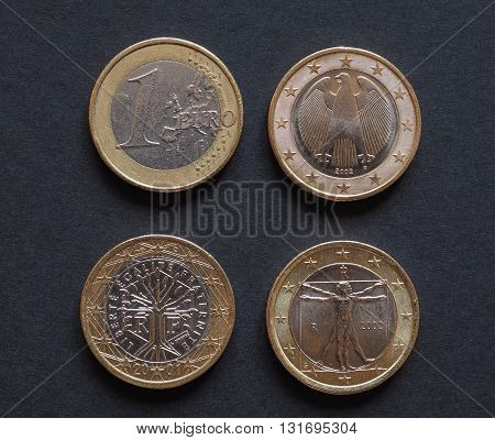 Euro Coins Of Many Countries