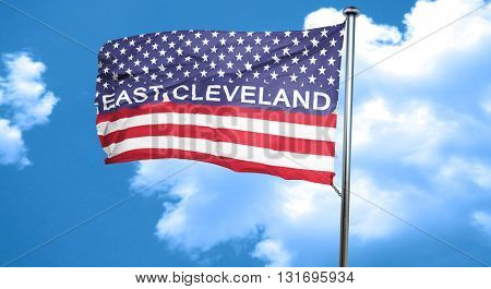 east cleveland, 3D rendering, city flag with stars and stripes
