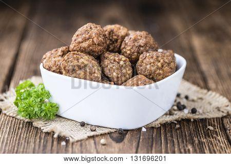 Portion Of Meatballs