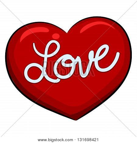 Vector Illustration of Heart with Love Message